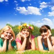 Happiness friends — Stock Photo