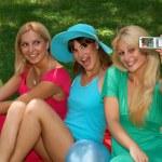 Friends fun outdoors — Stock Photo #3922678