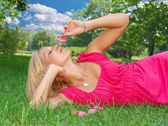 Relaxing outdoors — Stock Photo