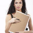 Businesswomen with Clipboard - Stock Photo