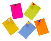 Notas de color — Foto de Stock