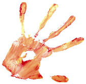 Huella de la mano — Foto de Stock