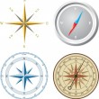 Compass. Vector illustration. — Vettoriali Stock