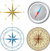 Compass. Vector illustration. — Stok Vektör