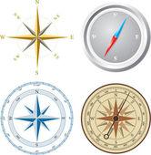 Kompas. vectorillustratie. — Stockvector