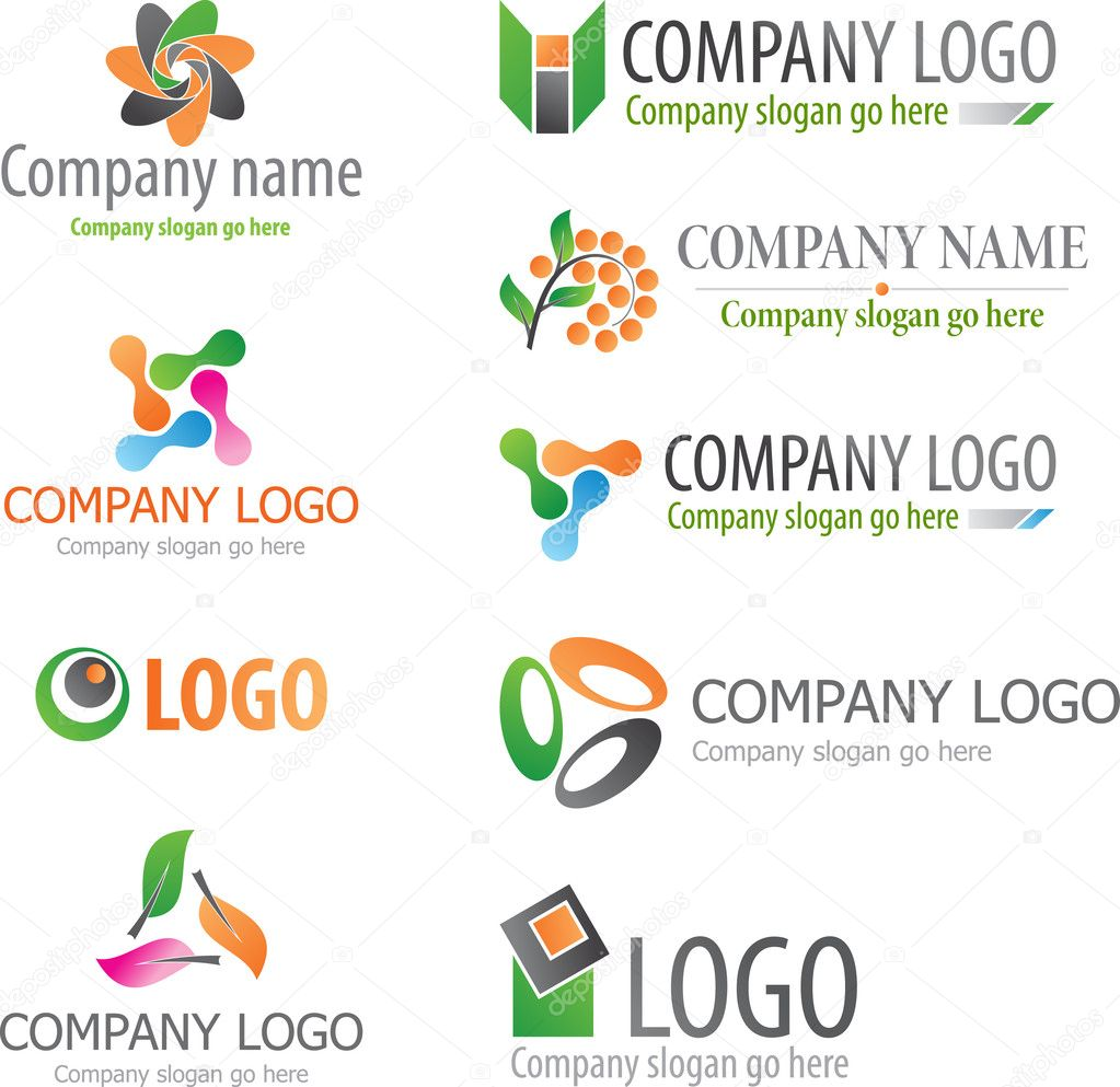 Set of abstract logos — Stock Vector #2715050