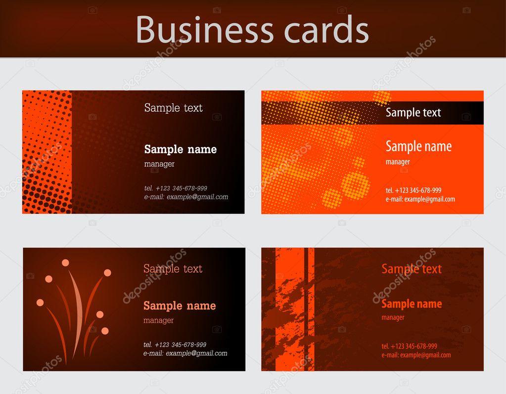 Business cards — Stock Vector © vtorous