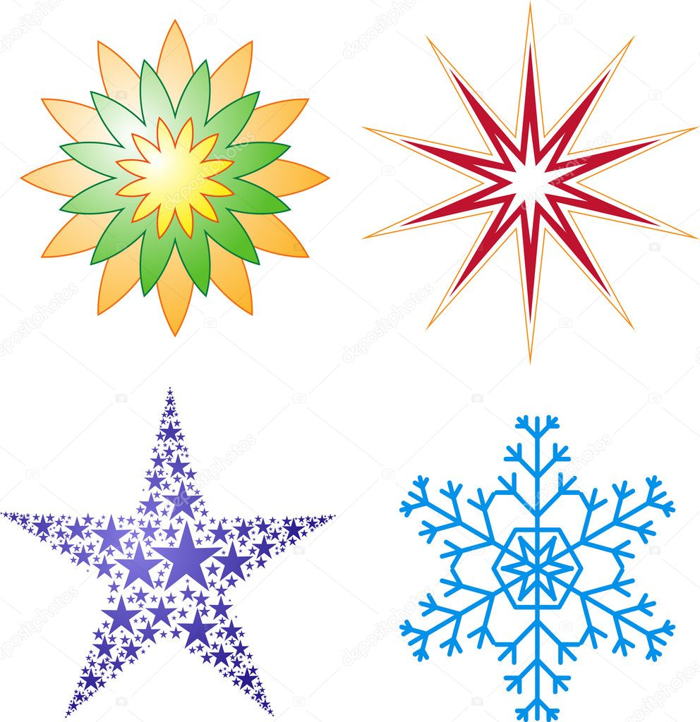 Collection of vector stars. — Stock Vector #2715257