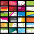 Vector de stock : Set of business cards