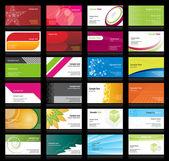 набор визитных карточек — Cтоковый вектор