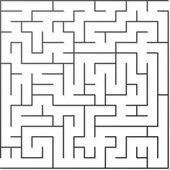 Black maze — Stock Vector