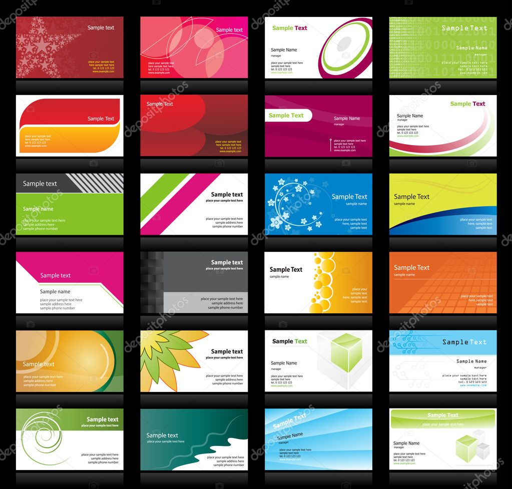 Set of business cards — Imagen vectorial #2863308