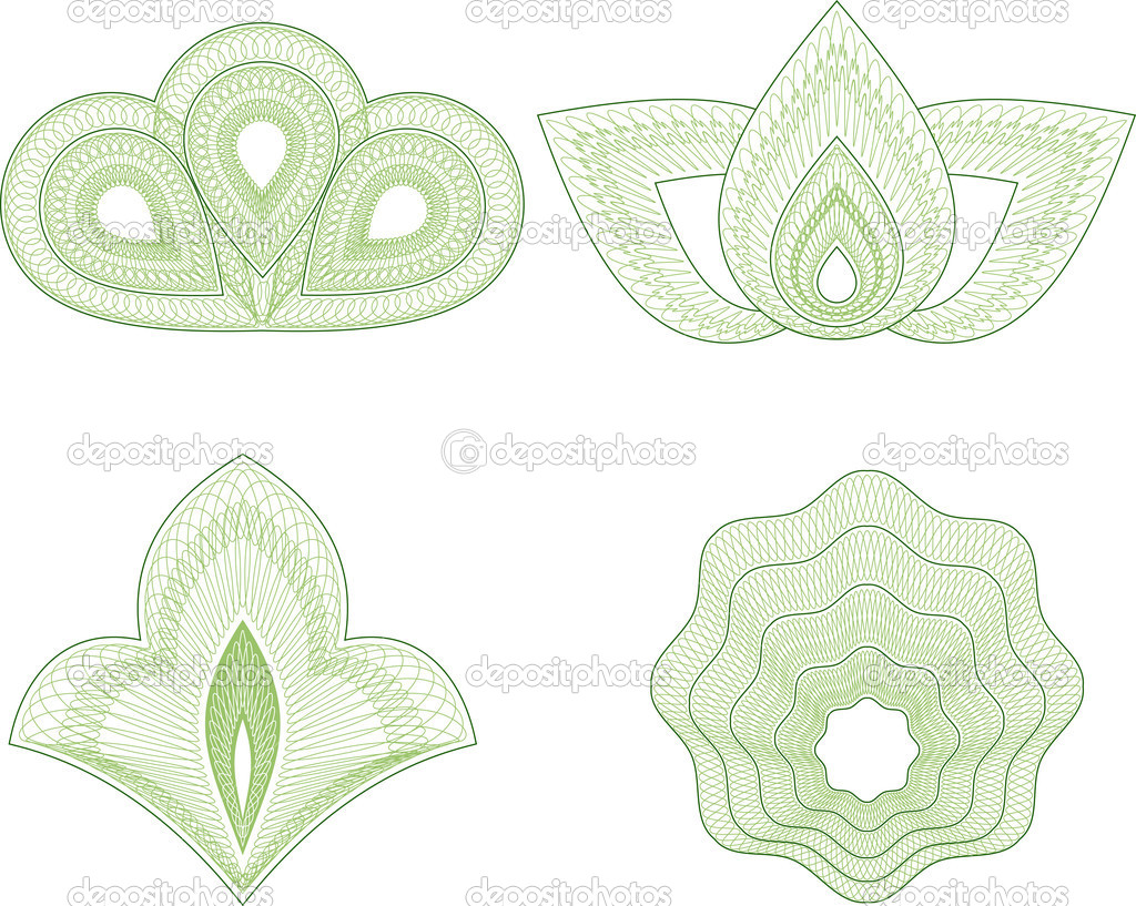 Guilloche vector pattern for currency, certificate or diplomas — Stock Vector #2863582
