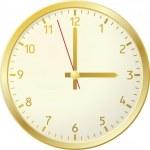 Golden clock. — Stock Vector