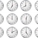 Set of clock — Stock Vector