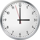 White clock — Stock Vector