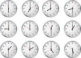 Set of clock — Stock Vector