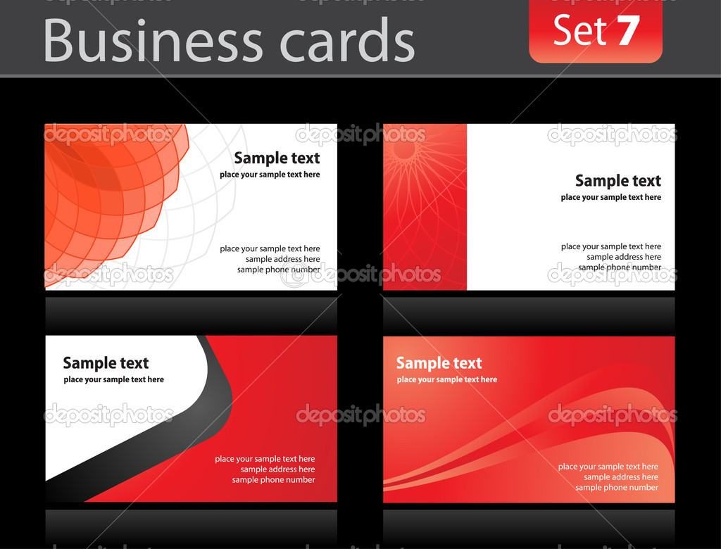 Business cards templates — Stock Vector © vtorous