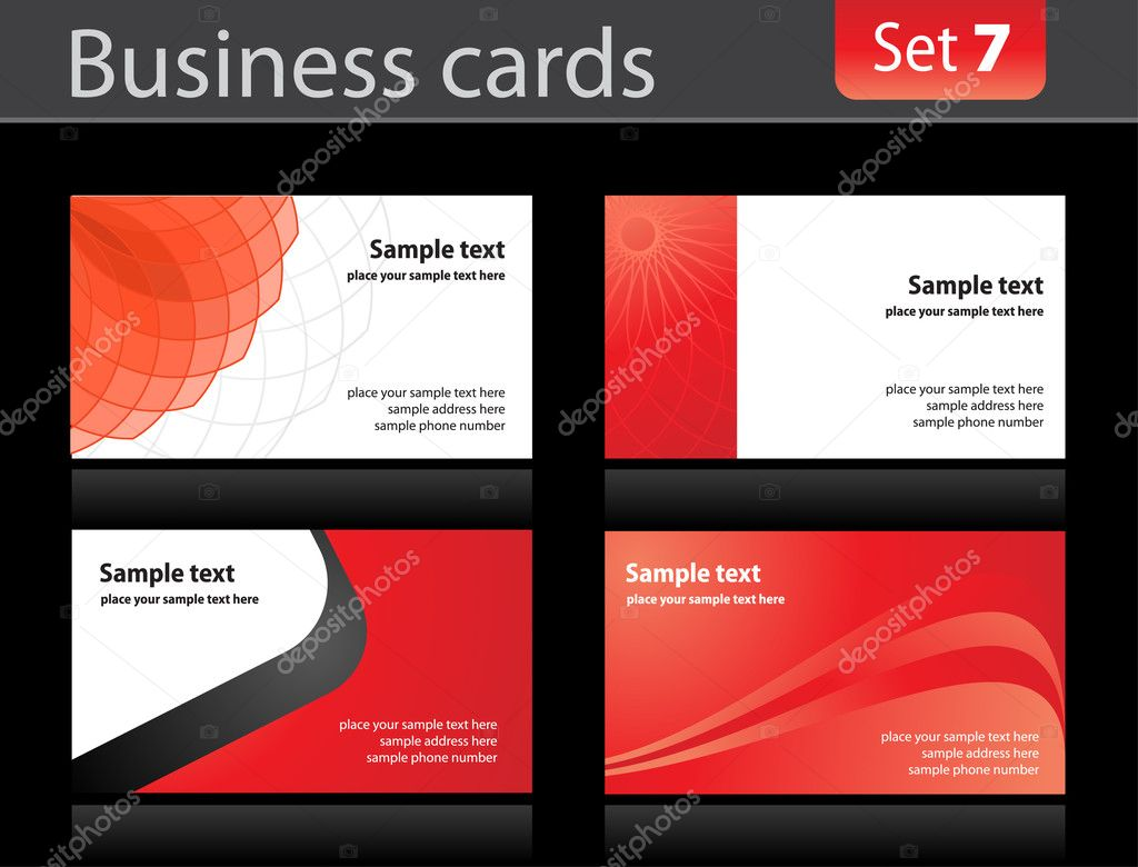Business cards templates — Stock Vector #2920686