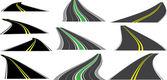 Vector perspective roads — Stock Vector