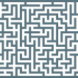 Gray labyrinth — Stock Vector