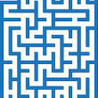 Stock Vector: Blue labyrinth