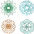 Royalty-Free Stock Immagine Vettoriale: Vector set of guilloche rosette