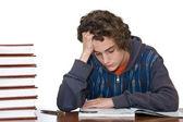 Teenger studying — Stock Photo