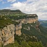 Calcareous cliffs in Tavertet, Catalonia — Stock Photo