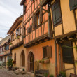 Timbered houses in the village of Eguisheim in Alsace, France — Stock Photo