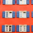 Colored windows pattern in Germany — Stock Photo