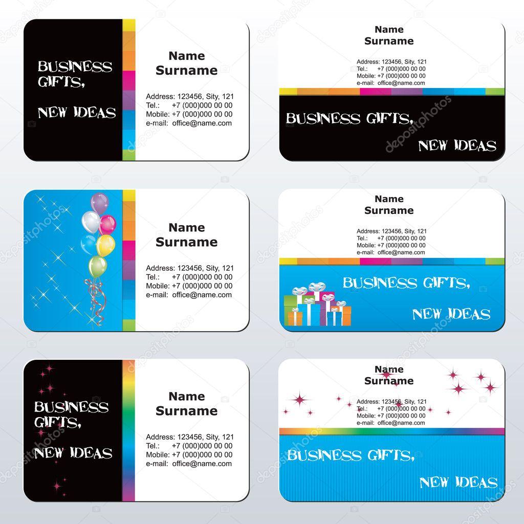 Business card — Stock Vector © Dr Hemul