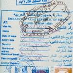 Stamps on passport — Stock Photo #2721550