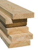 Wooden beams — Stock Photo