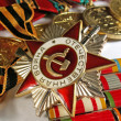 Stock Photo: Medals to war heroes