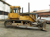 Bulldozer T-130 — Stock Photo