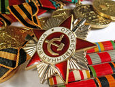 Medals to war heroes — Stock Photo