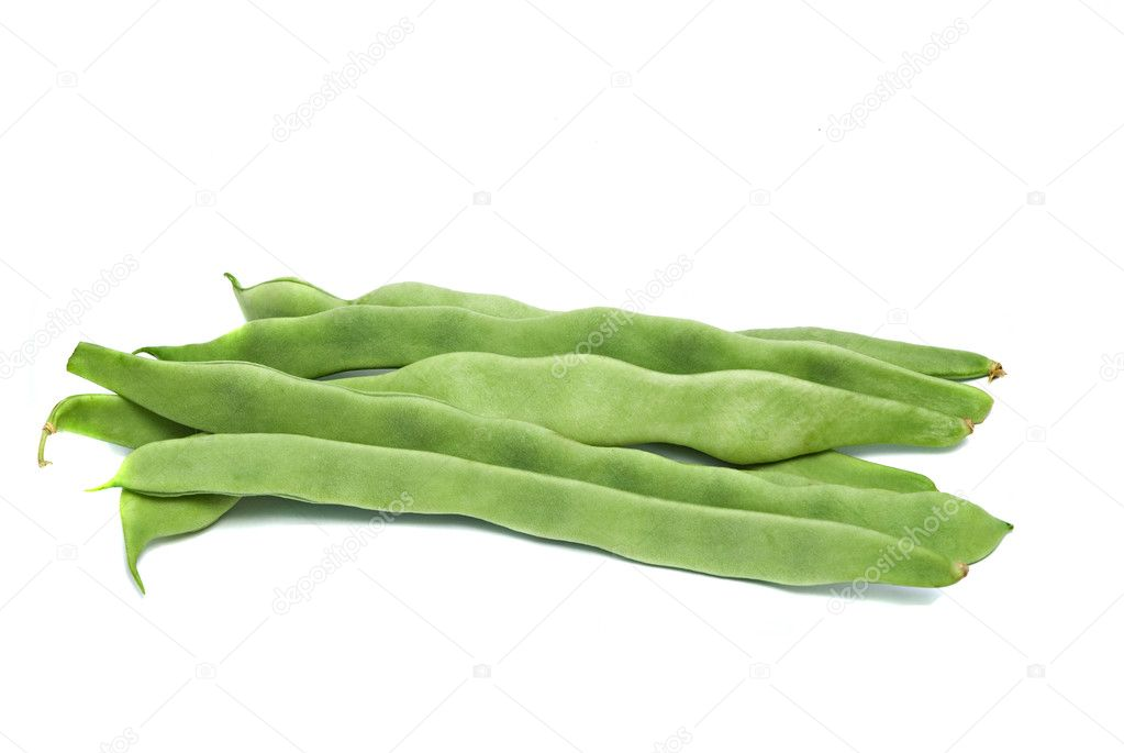 Green beans isolated on white background — Stock Photo #2713332
