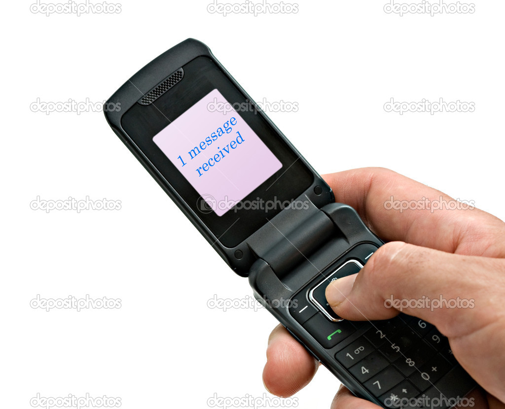 Mobile phone with 1 message received writen on display — Stock Photo #2719659