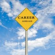 Road sign to career — Stock Photo #3436414