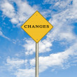 Road sign to changes — Stock Photo #3440911