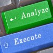 Hot keys for analyze and execute — Stock Photo #3446214