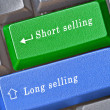 Hot keys for long and short selling - Stock Photo