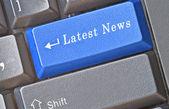 Hot keys for latest news — Stock Photo