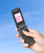 "Mobile phone with ""Breaking news"" label on its screen — Stock Photo"
