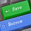 Stockfoto: Hot key for save and borrow