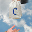 Bag with euro - Stock Photo