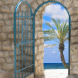 Door to seashore - Stock Photo