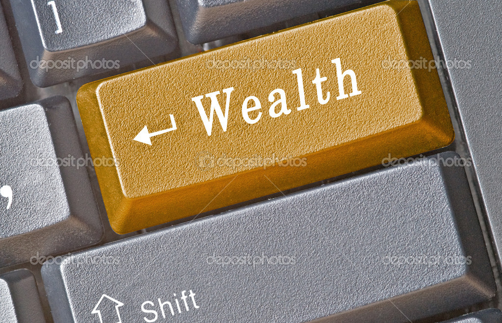 Keyboard with key for  wealth — Stock Photo #3497709