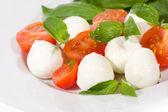 Mozzarella and tomatoes — Stockfoto